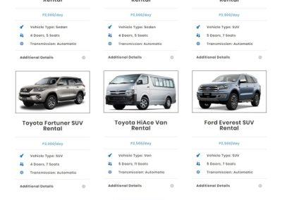 Car Rental Davao web design by 75 Social