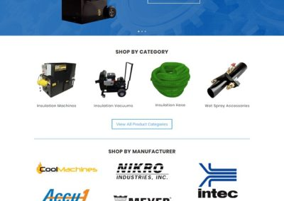 Insulation Machine Store website designed by 75 Social